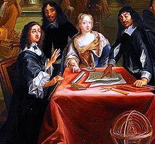 Queen Christina (left) and René Descartes (right)