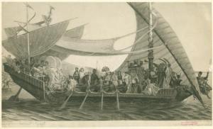 """""""Cléopâtre et Antoine sur le Cydnus"""" by Henri-Pierre Pico"""