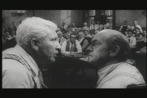 Spencer Tracy and Frederick March in the 1960 movie