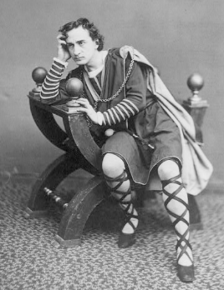 Edwin Both as Hamlet, ca. 1870