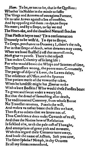 First Folio, 1623